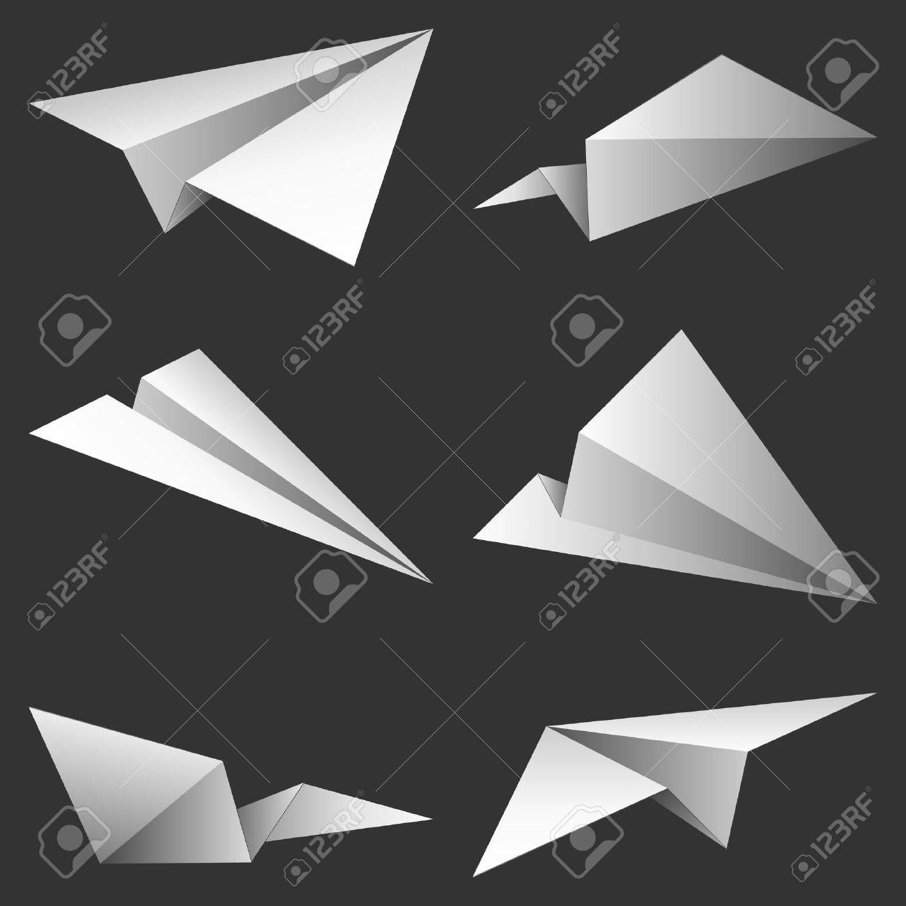 Paper airplanes. Stock Vector - 7630697