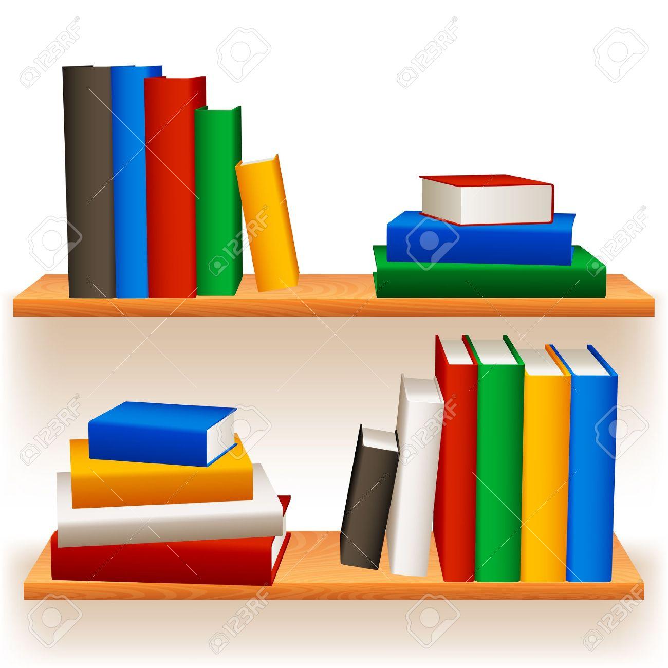 Realistic 3d illustration of modern wooden bookshelf against ston - 3d Bookshelf Bookshelves