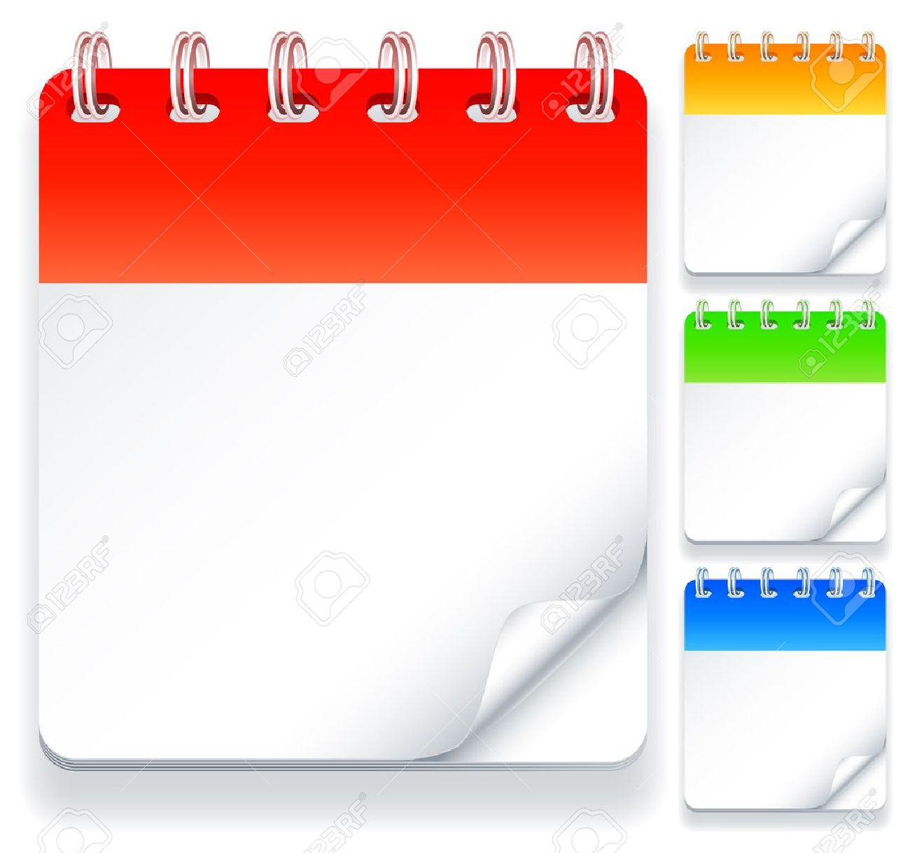Color Calendars With Blank Pages. Royalty Free Cliparts, Vectors ...