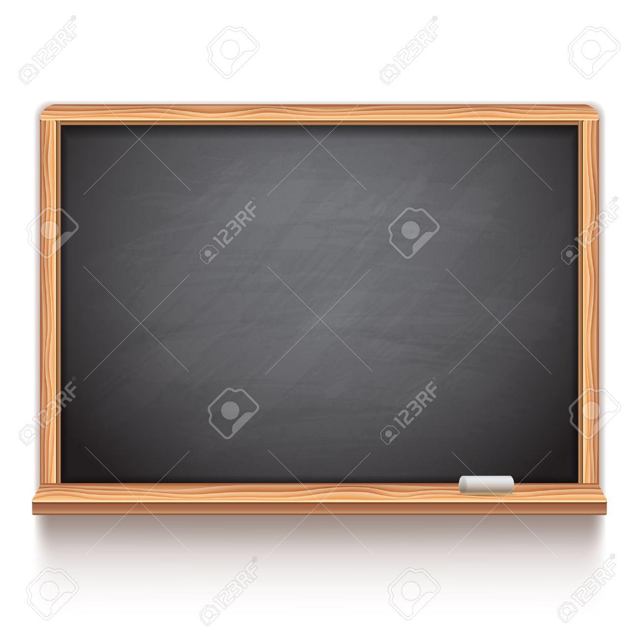 Black school chalk board on white background - 43875393