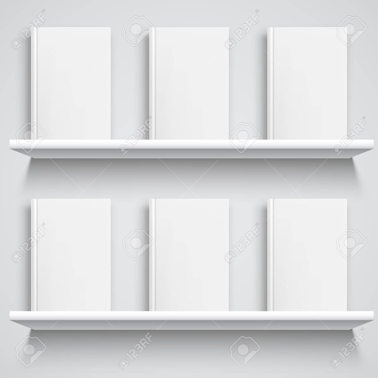 Peachy Two White Bookshelves And Books With Empty Blank Covers White Download Free Architecture Designs Photstoregrimeyleaguecom