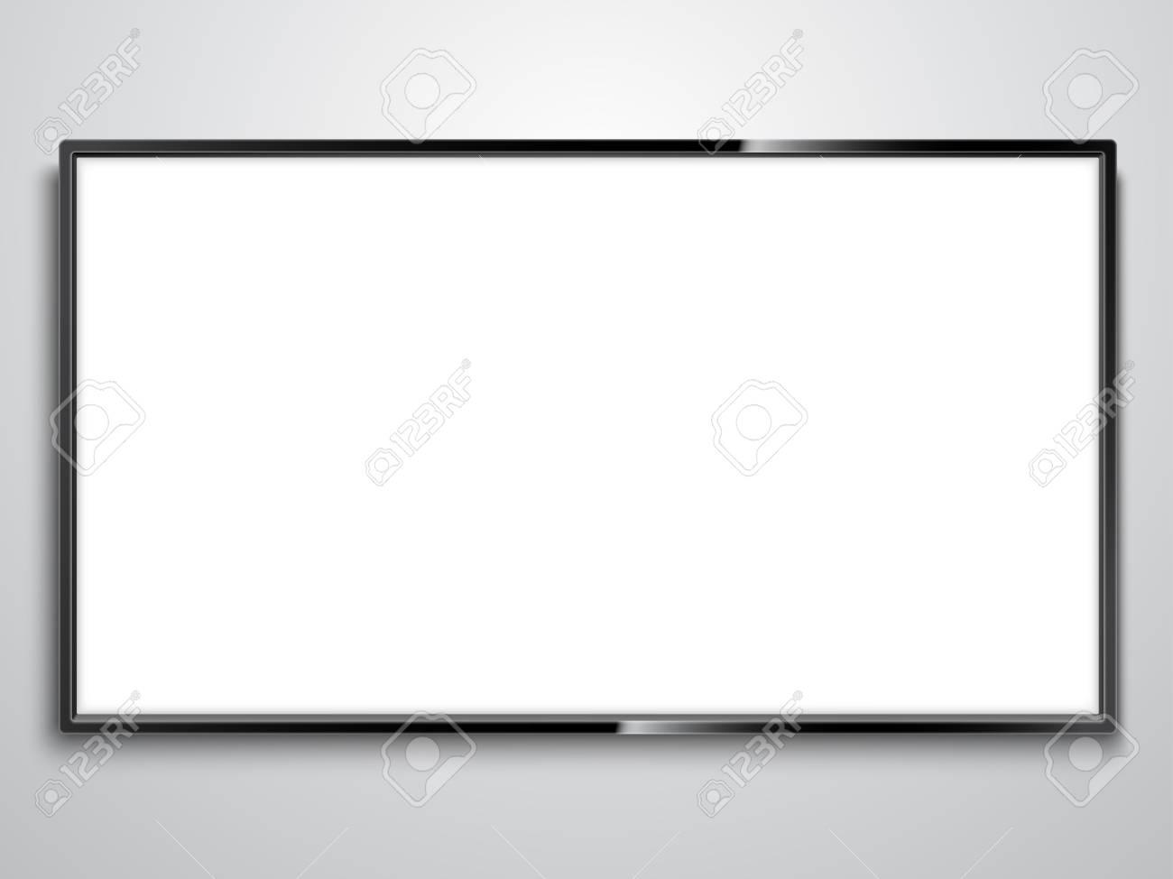 White Screen TV illustration on white background.. - 99865391