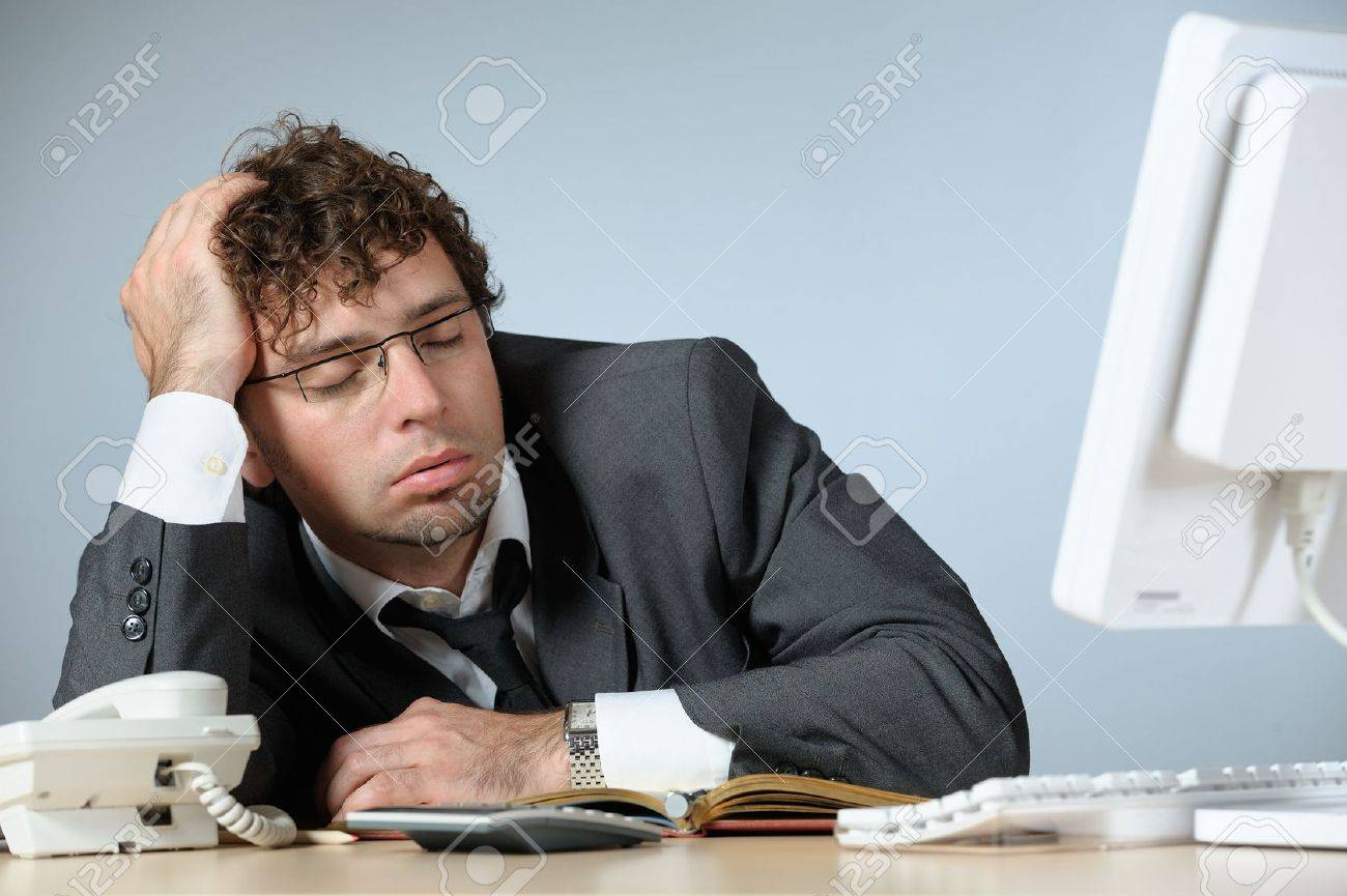 Bored young businessman Stock Photo - 3861390