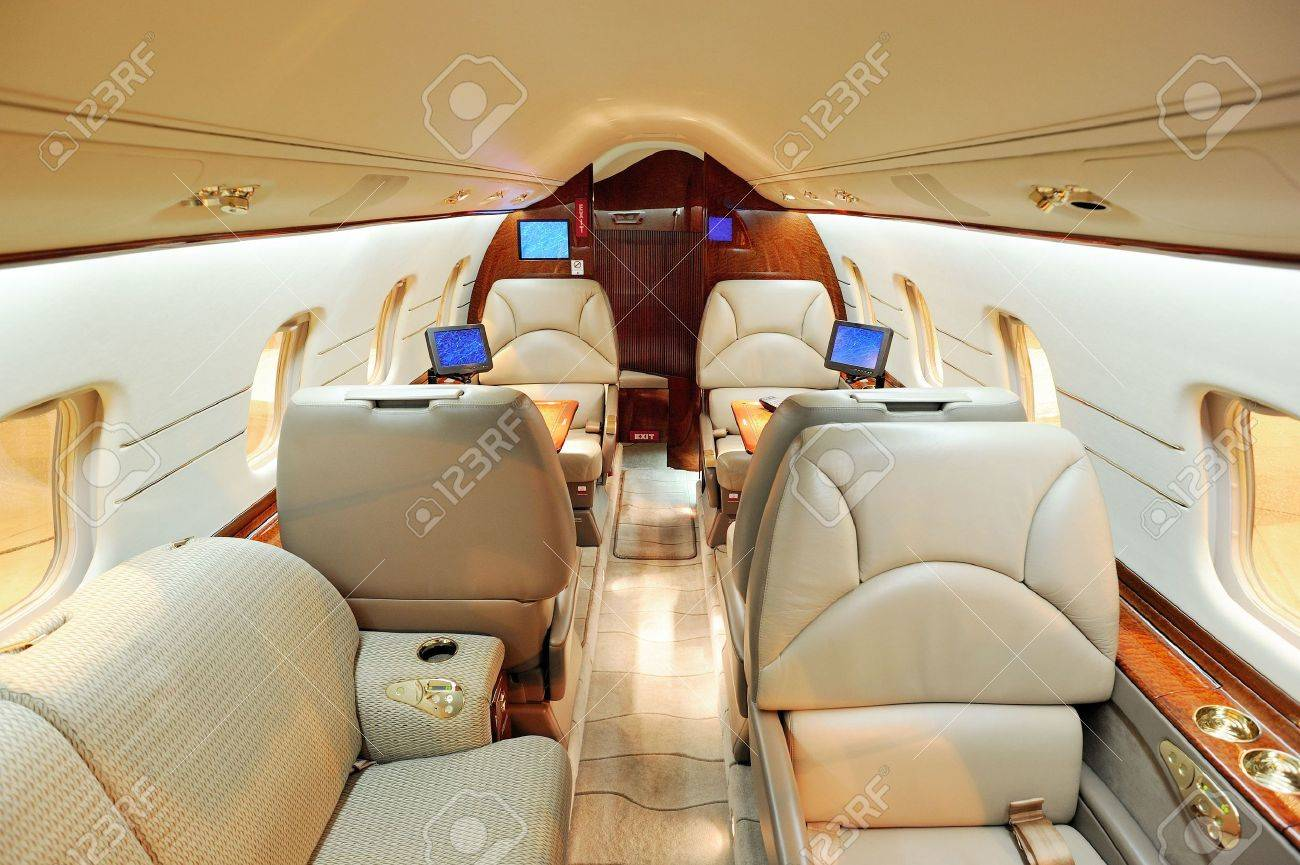 Interior of jet airplane Stock Photo - 4351276