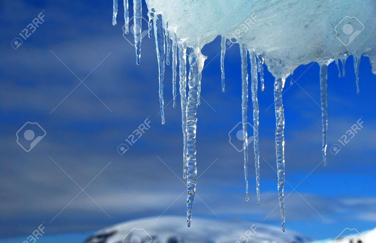 frozen ice in antarctica, blue sky Stock Photo - 9161402