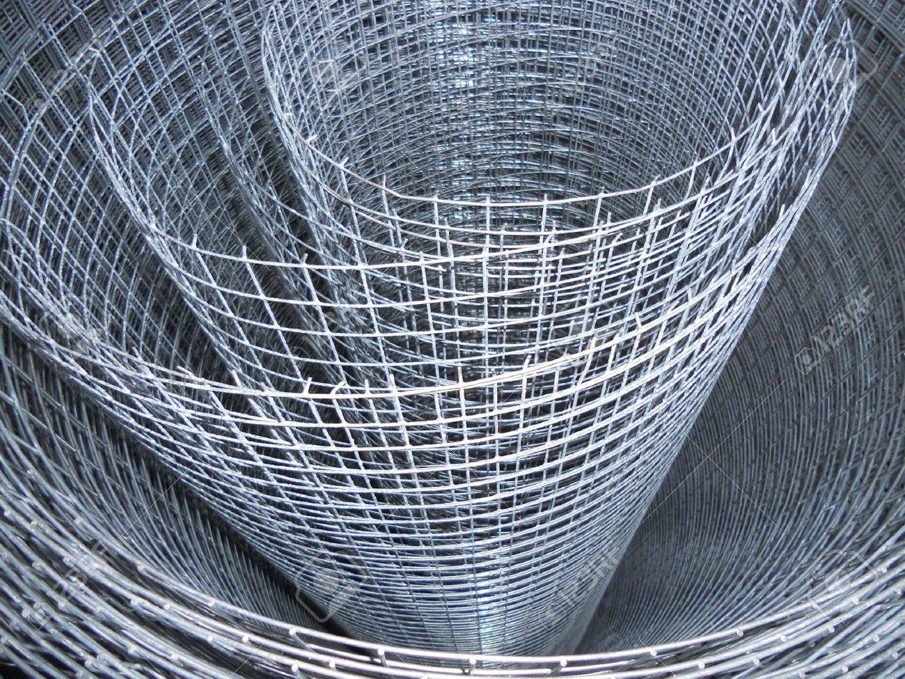 The Metal Mesh Roll Stock Photo, Picture And Royalty Free Image ...
