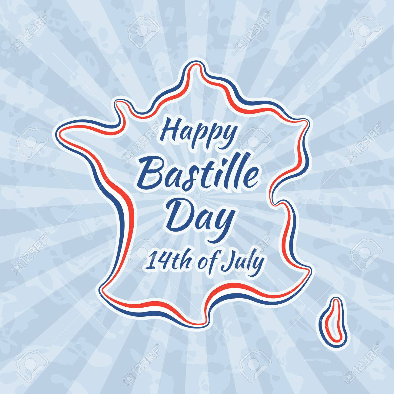 Happy bastille day and 14th july greeting card for french national happy bastille day and 14th july greeting card for french national day retro with m4hsunfo