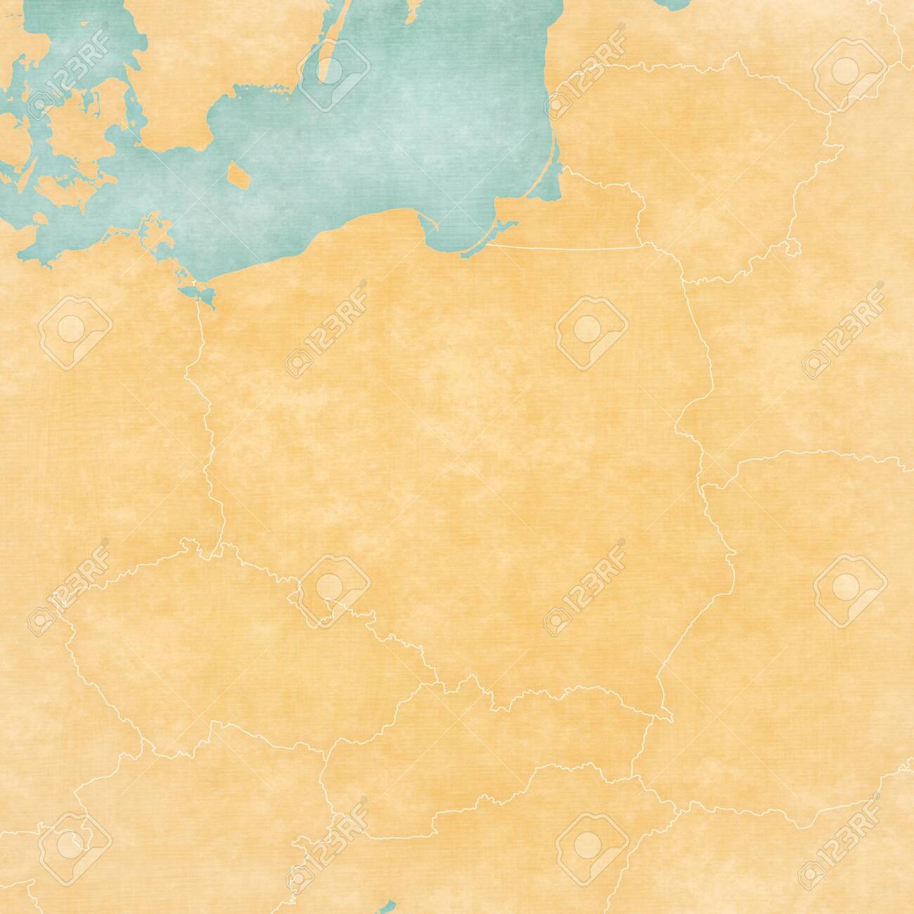 Picture of: Blank Map Of Poland In Soft Grunge And Vintage Style Like Old Stock Photo Picture And Royalty Free Image Image 128248051