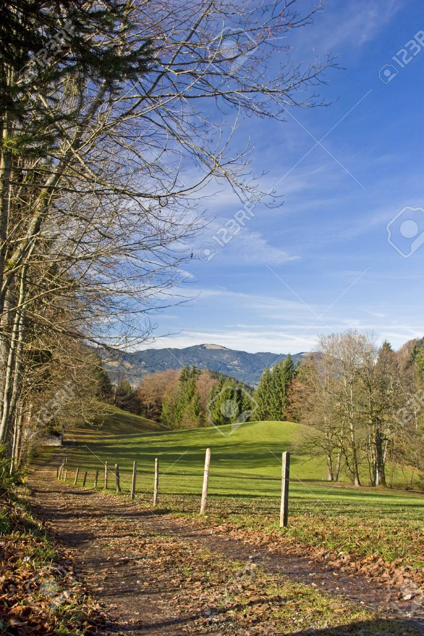 Autumnal idyll in the countryside Isarwinkel in Upper Bavaria Stock Photo - 11700351