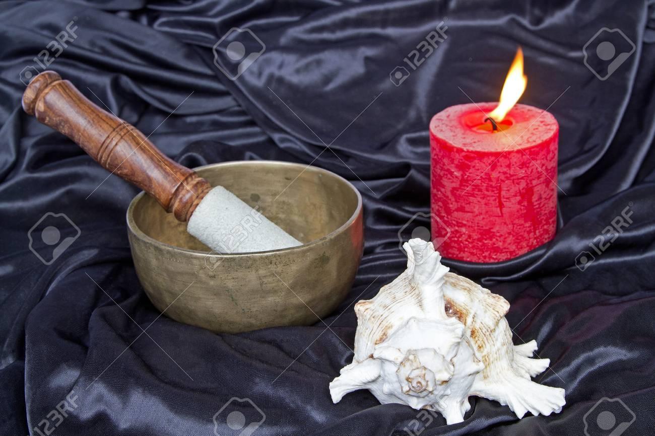 Important meditation utensils Stock Photo - 15703198