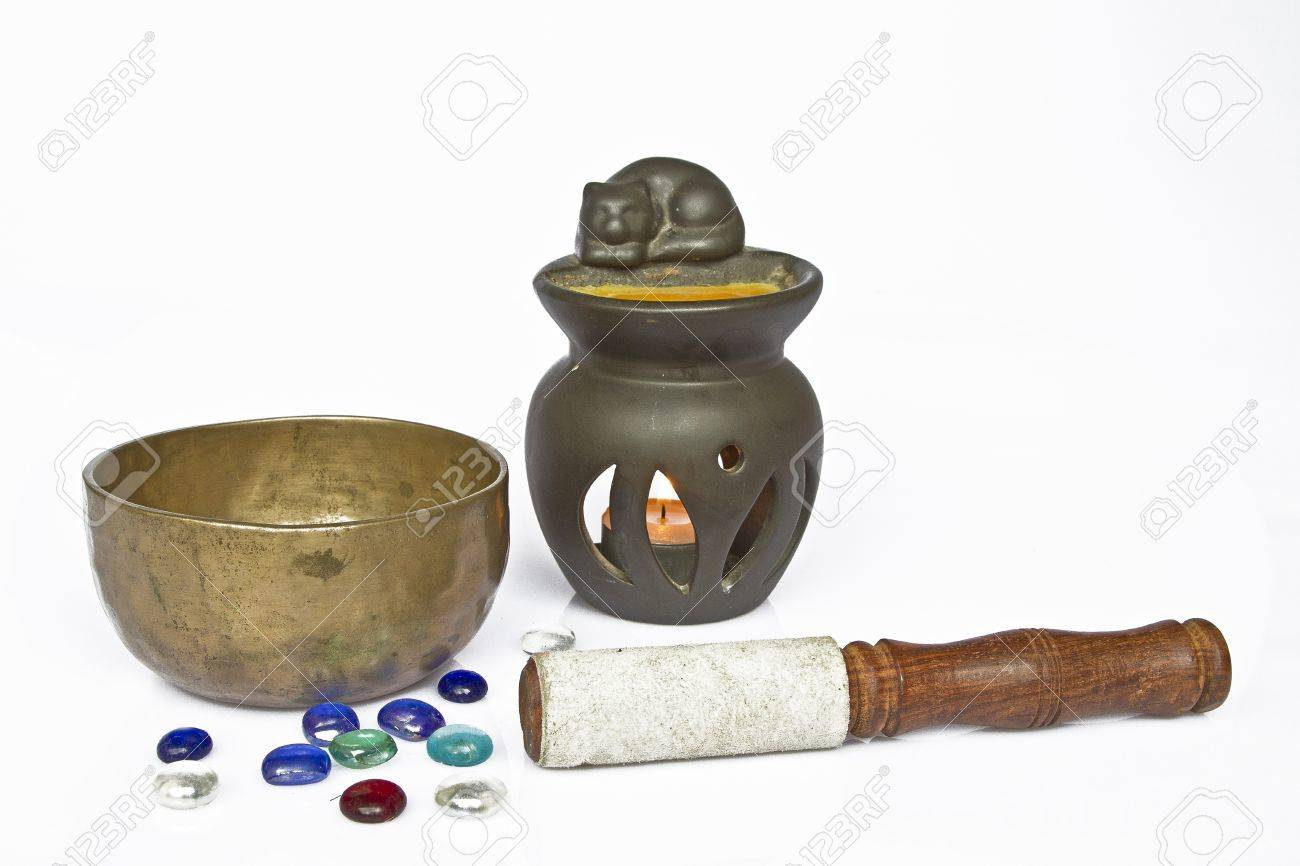 Important meditation utensils Stock Photo - 15725207