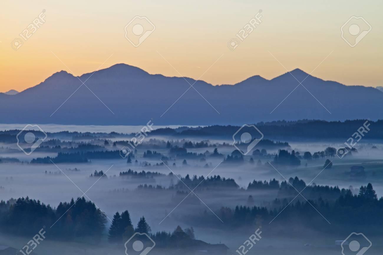 morning fog in Upper Bavaria Stock Photo - 16582965