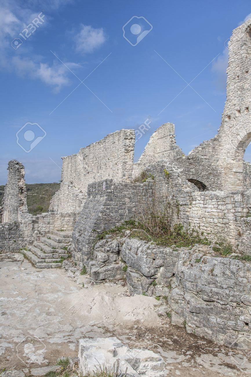 Dvigrad ruined city - picturesque ruins in Istria Stock Photo - 16887244