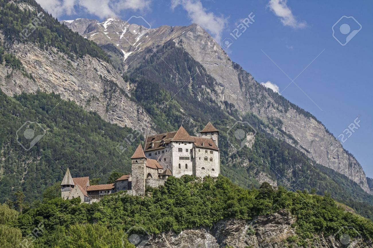 Gutenberg Castle is a medieval castle high over the town of Balzers in Liechtenstein - 41383551