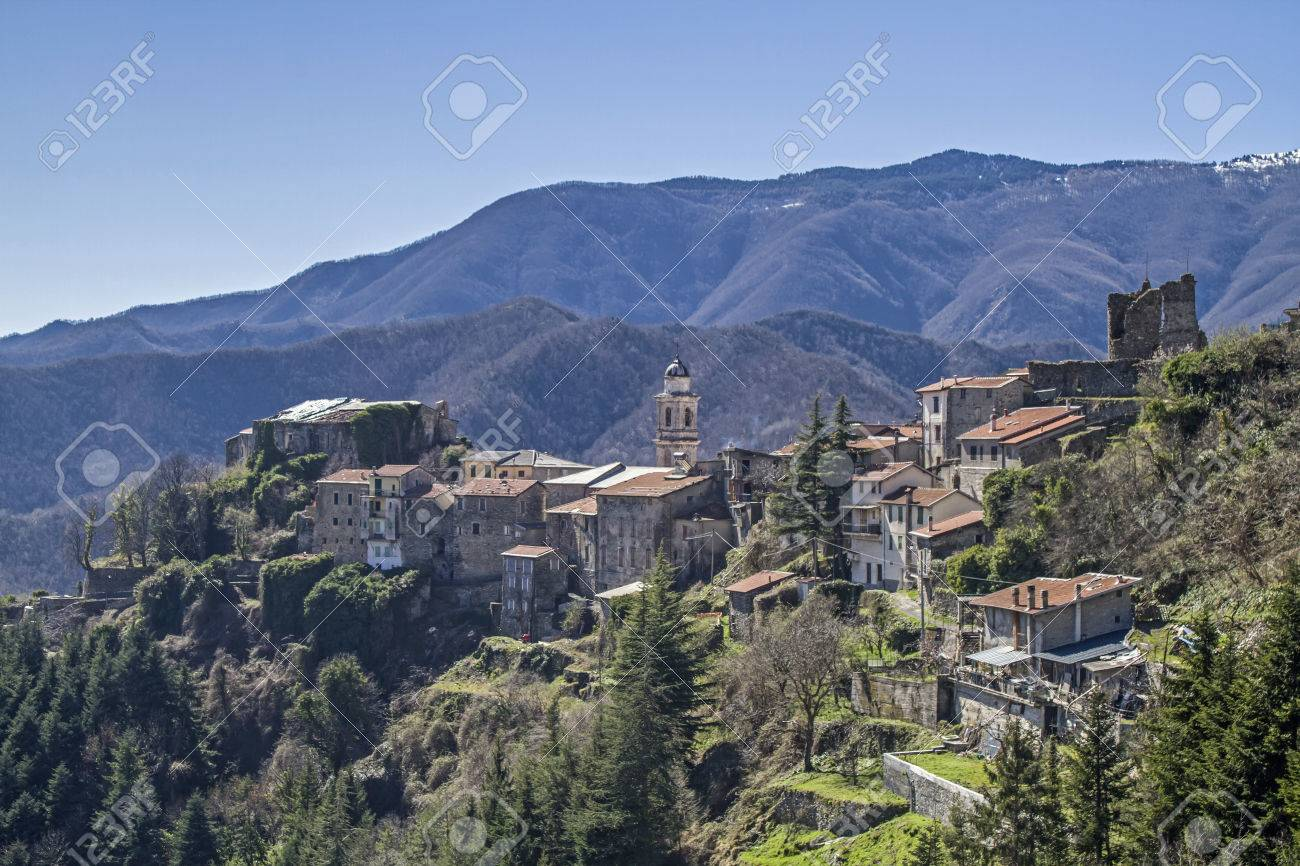 Triora, the mountain village of witches - in dark time there was the witch hunts that many women had lost their lives. - 44754889