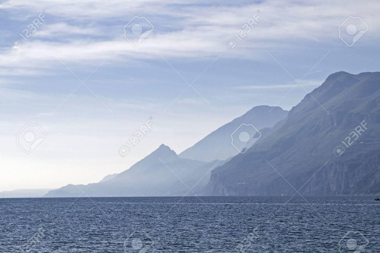 Lake Garda - lake and mountains in backlight - 48511558