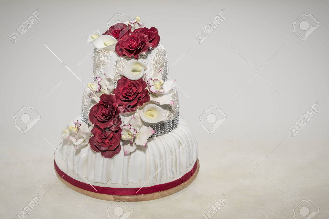 Cutting Off Of The Magnificent Wedding Cake Is For Each Married ...