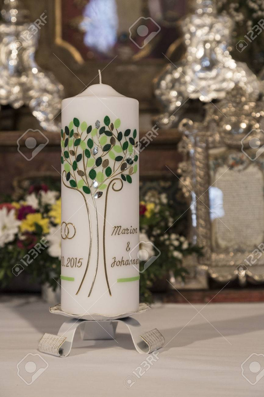 Symbolic Wedding Details The Wedding Candle Stock Photo Picture