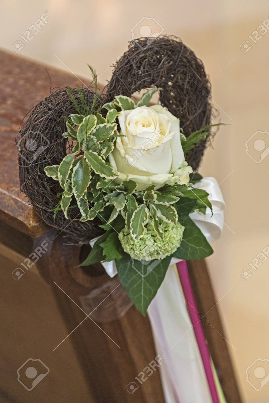 Fantastic Detail Of An Old Wooden Stool In A Church With Floral Wedding Camellatalisay Diy Chair Ideas Camellatalisaycom