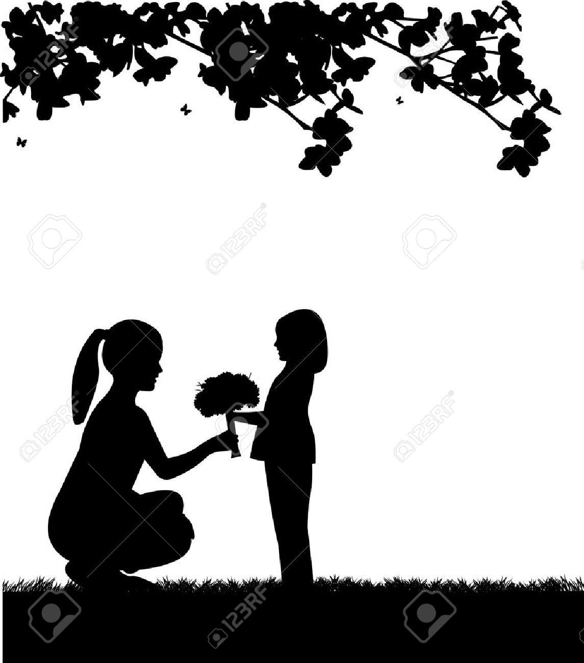 Celebración Del Día De La Madre S Entre Madre E Hija Fondos De