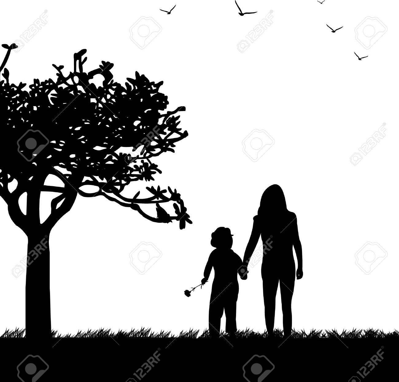 Madre S Días Celebración Entre Madre E Hija En El Parque Fondos De