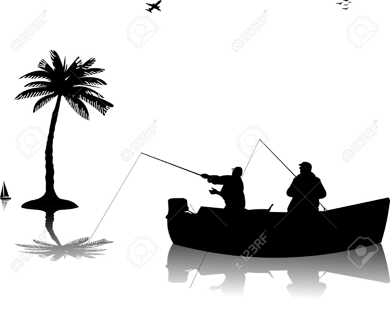 17 848 fishing silhouette stock illustrations cliparts and