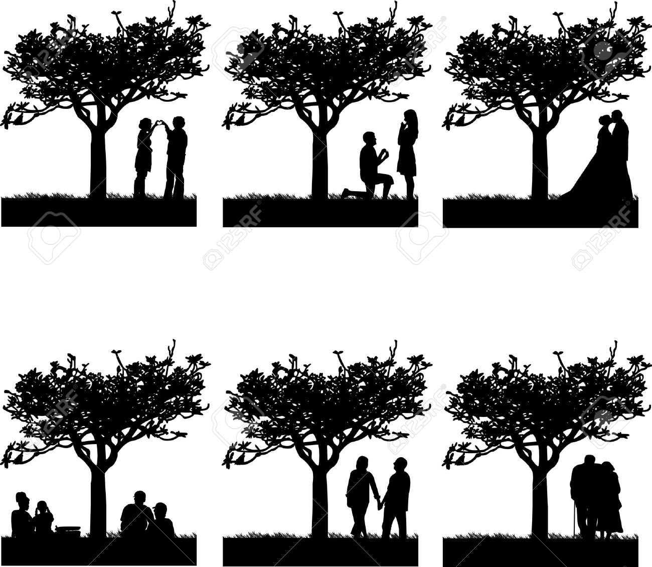 Stages of development at different stages of life silhouette Stock Vector - 14439893