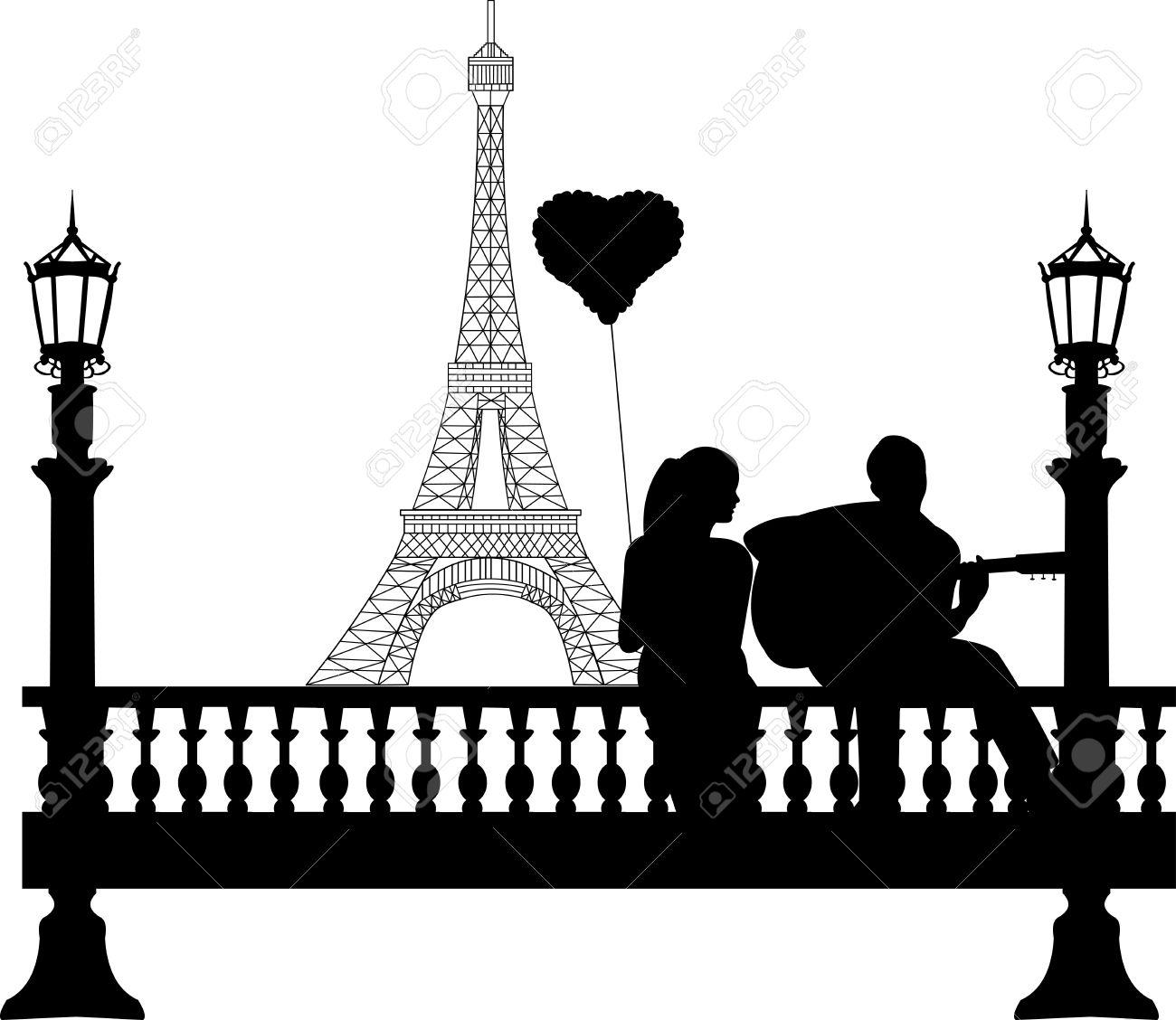 Paar In Liebe Am Valentinstag S Day, Wo Ein Mann Spielt Gitarre ...