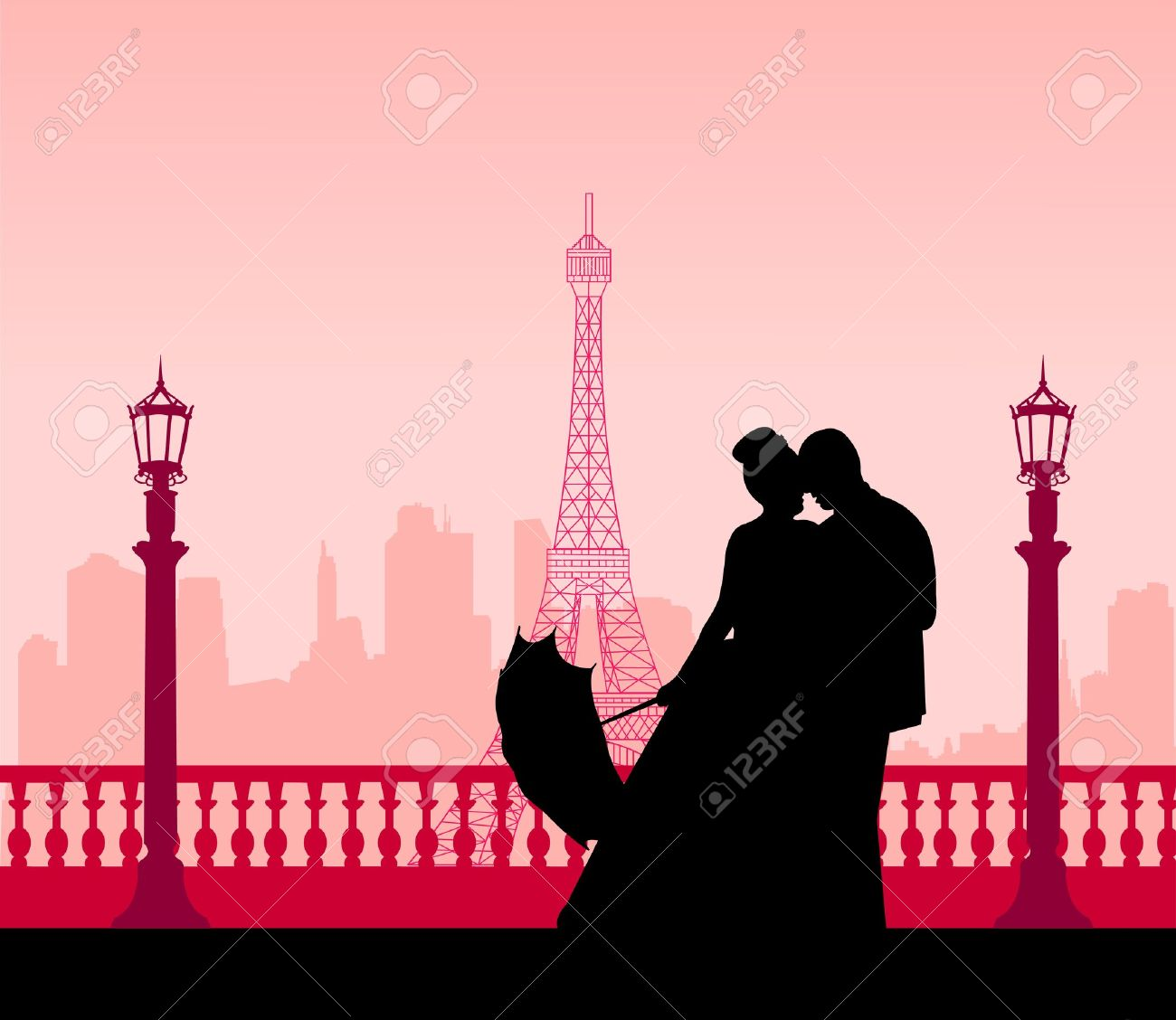 eiffel tower silhouette Eiffel Tower Silhouette Pink