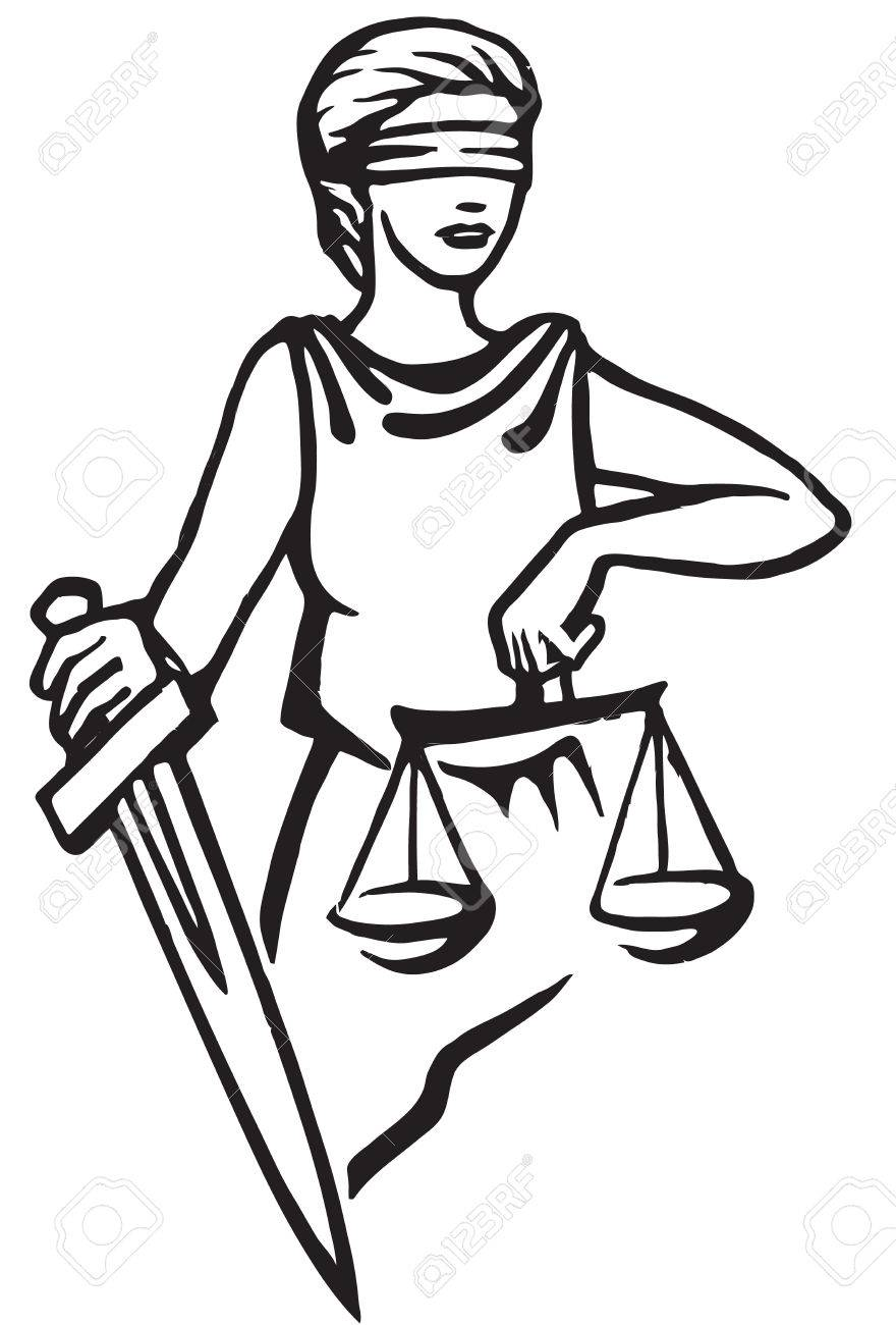 Themis - Goddess Of Justice.Vector Illustration. Femida Royalty ...