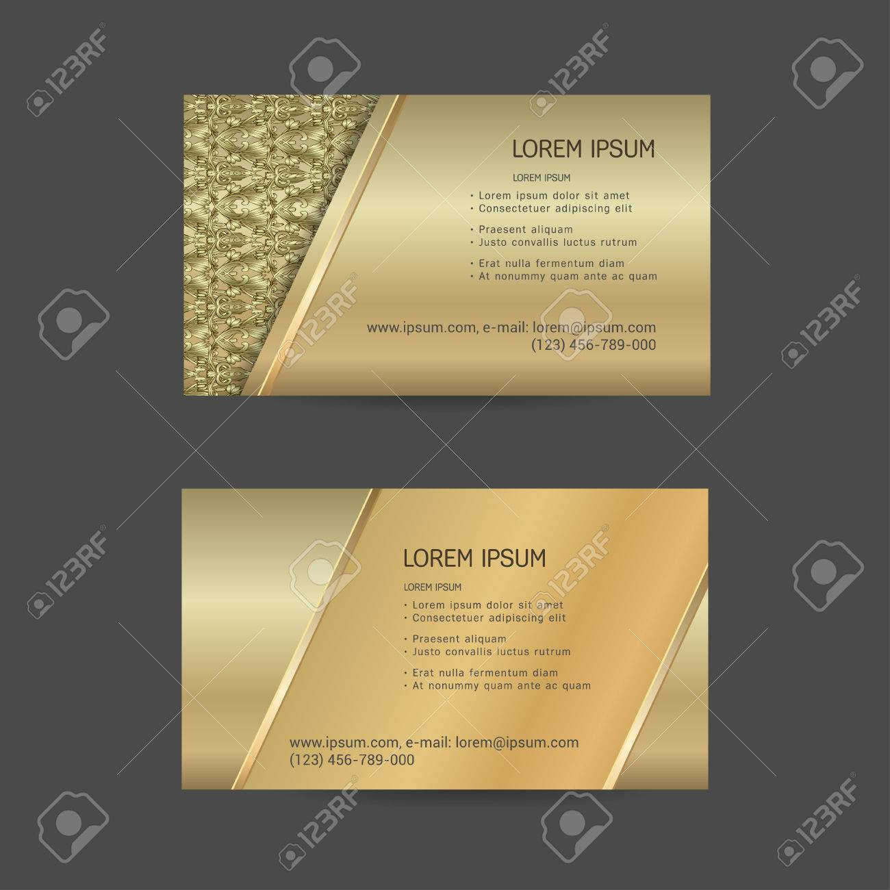 Business Cards Individual Cards With Delicate Flowers Herbs