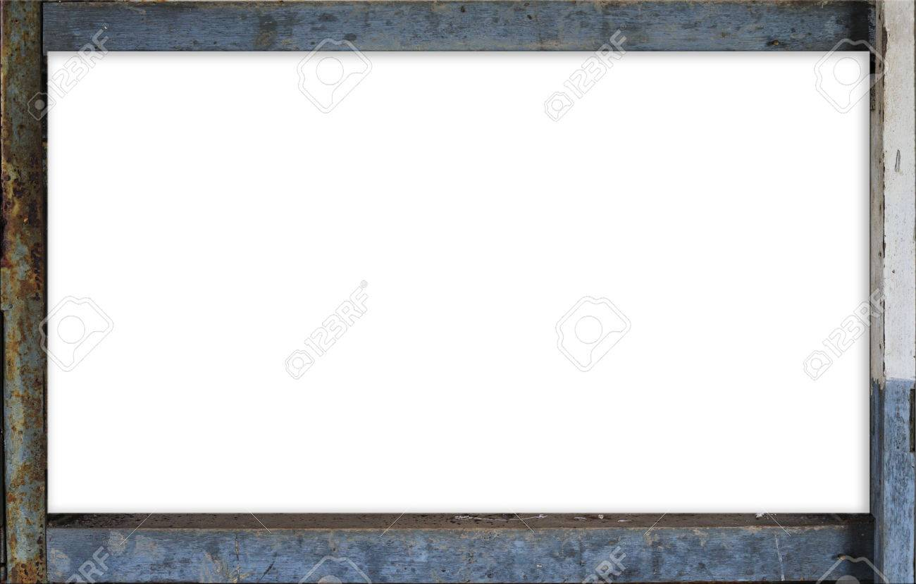 Rust Grunge Iron Border Square Frame With White Slot Stock Photo ...