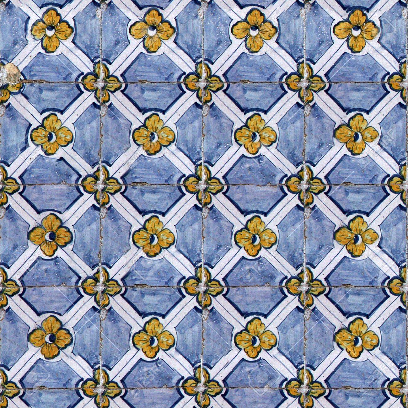 Seamless Tile Pattern Of Ancient Ceramic Tiles. You Can Create ...