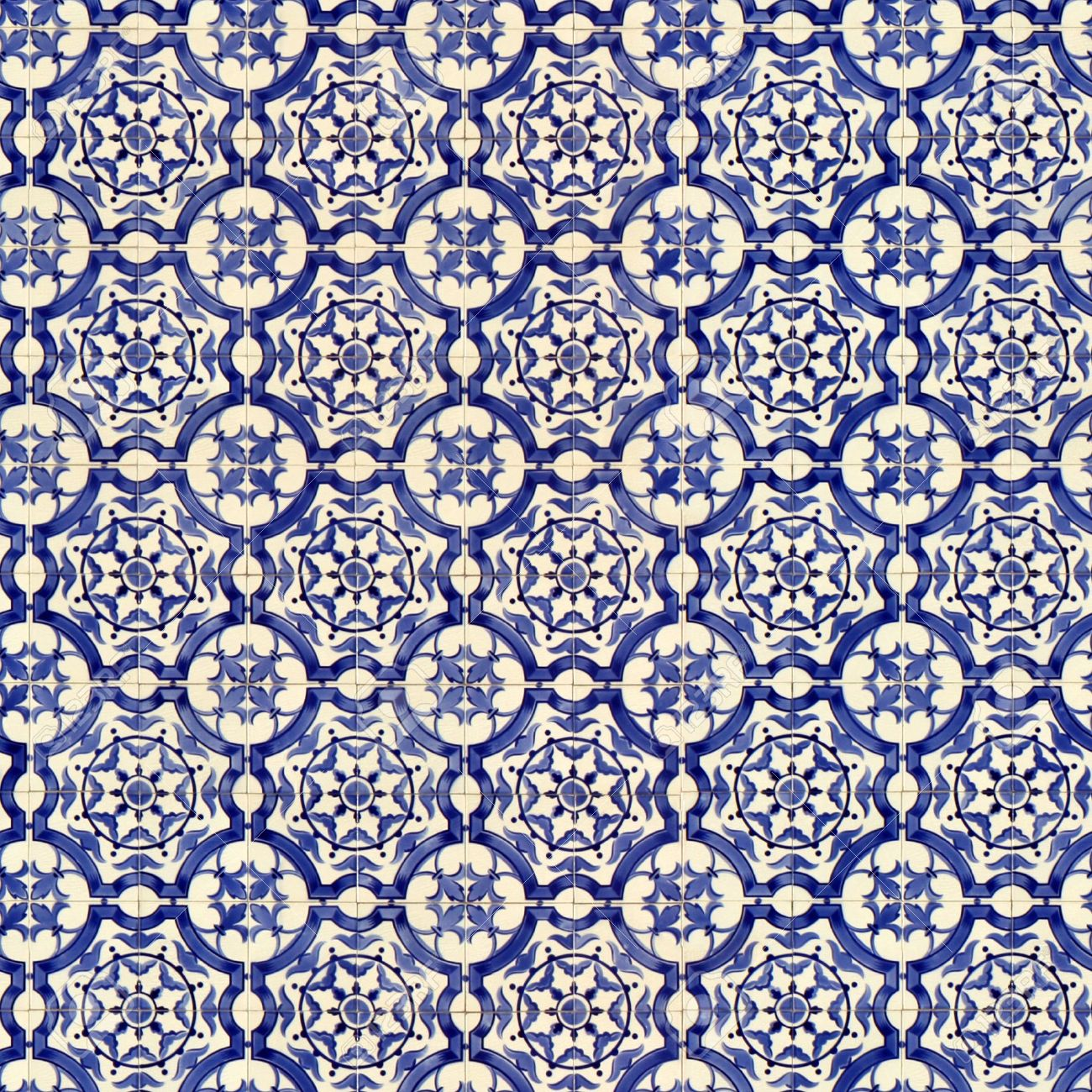 Seamless Tile Pattern Of Ancient Ceramic Tiles. This Is Seamless ...