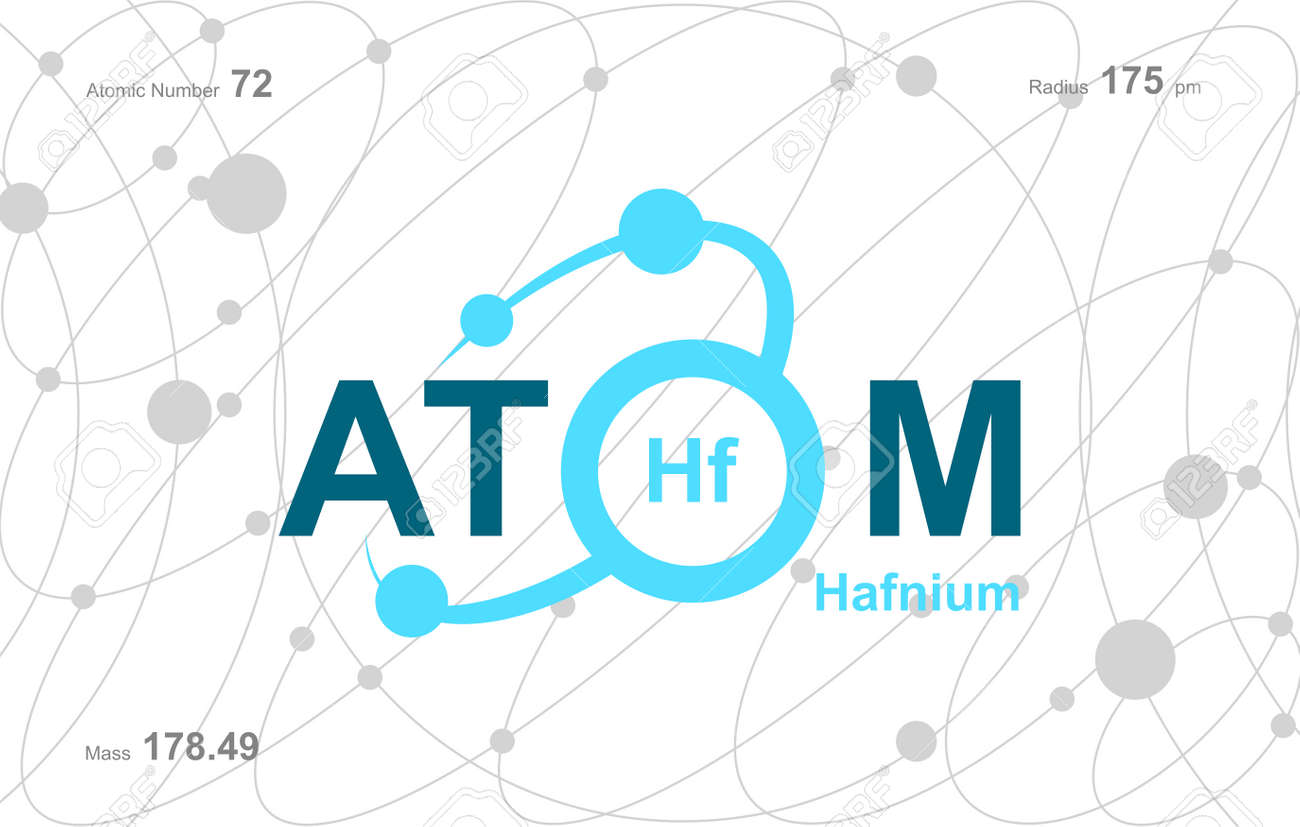 """modern logo design for the word """"Atom"""".Atoms belong to the periodic system of atoms. There are atom pathways. - 171477798"""