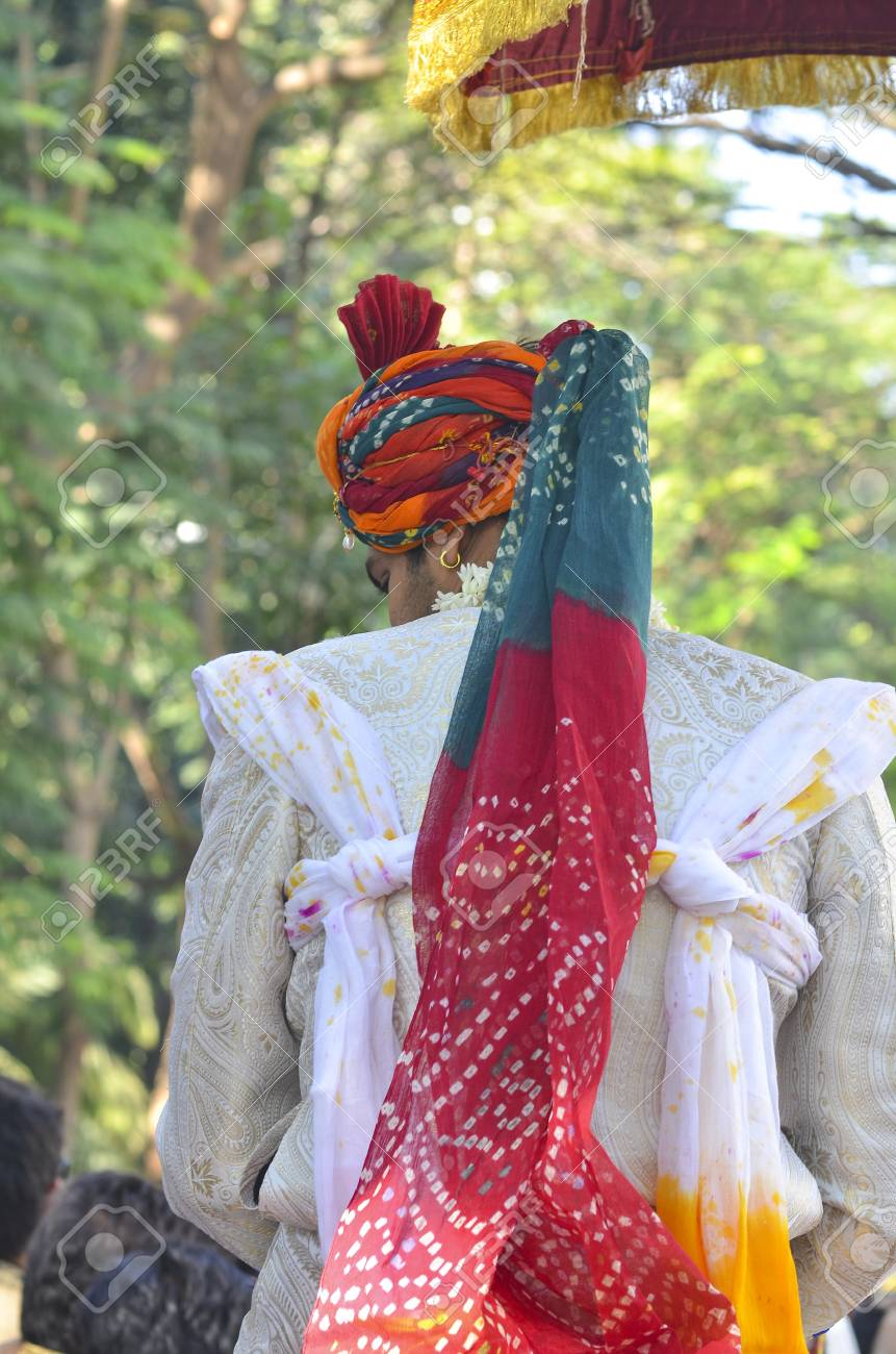 Mumbai India Bridegrrom In Traditional Dress Riding A Horse Stock Photo Picture And Royalty Free Image Image 26419480
