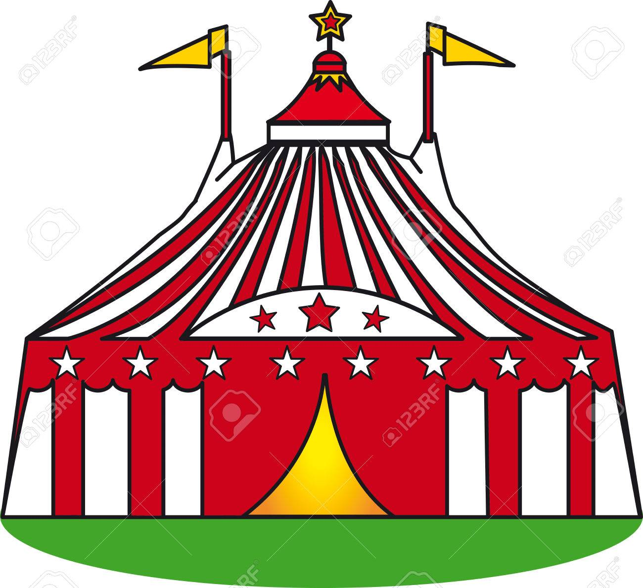 An illustration of a circus tent on a grass Stock Vector - 5126300  sc 1 st  123RF.com & An Illustration Of A Circus Tent On A Grass Royalty Free Cliparts ...