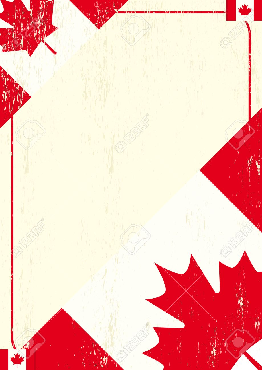 A background with a canadian flag and a texture. Stock Vector - 11291792