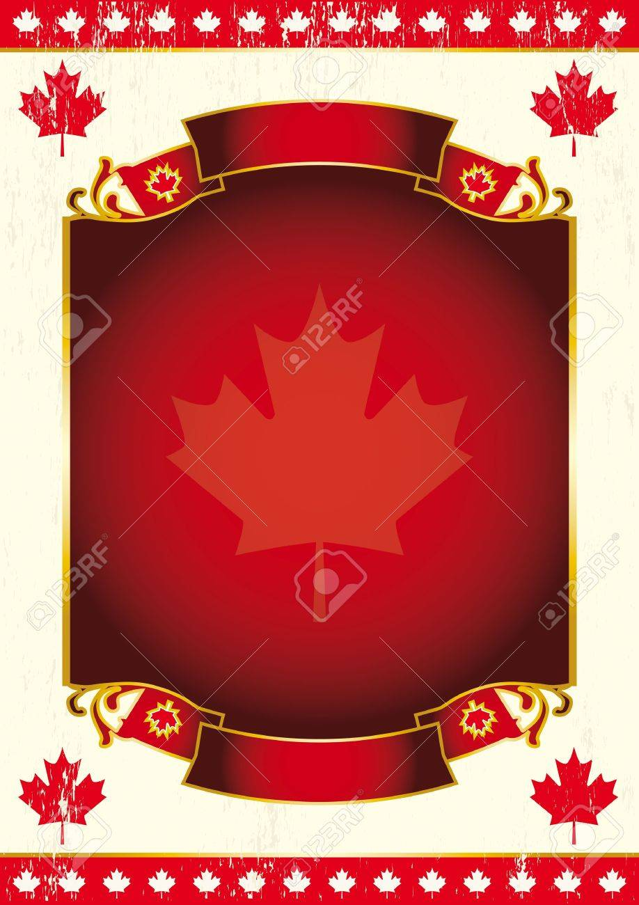 Canadian background for a poster. Stock Vector - 11410269