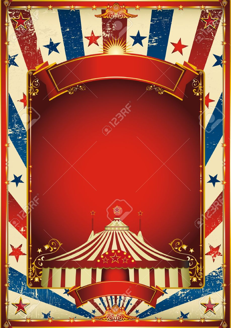 A retro circus poster for your advertising. Stock Vector - 11291790