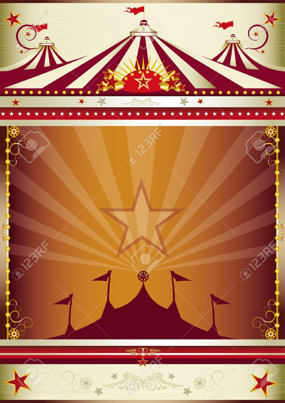 An old style circus poster for you. Stock Vector - 11291722
