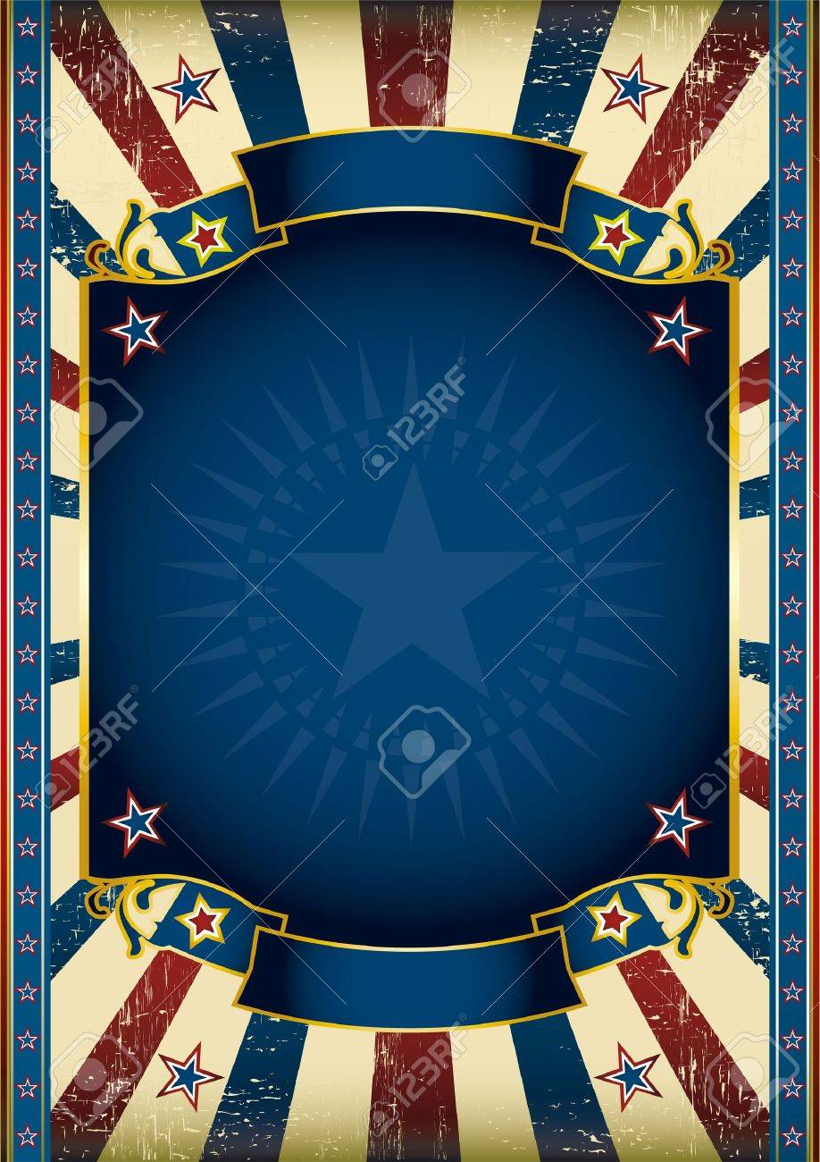 An American star poster for your advertising Stock Vector - 11823072