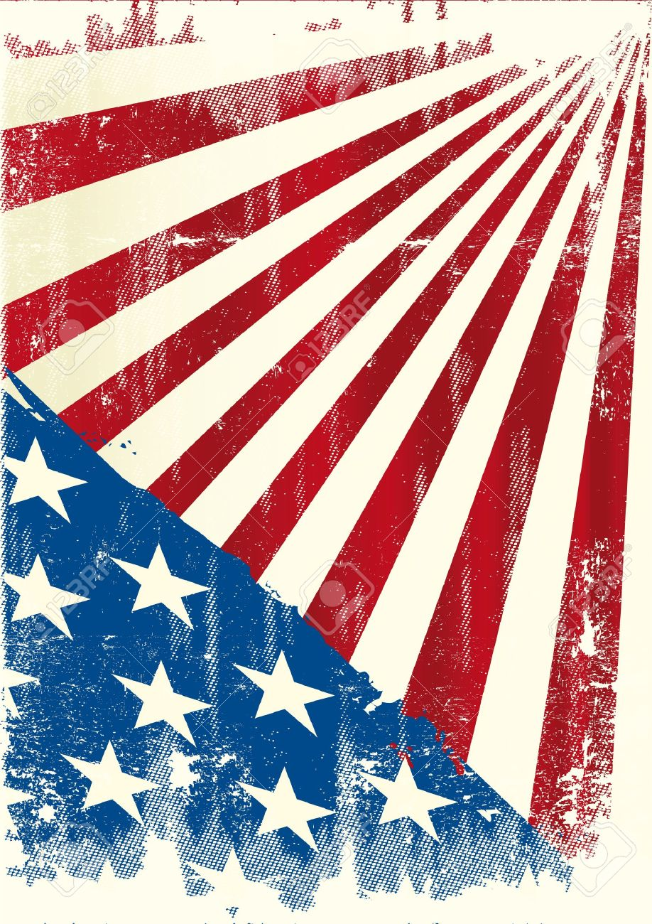 an american grunge background for a poster royalty free cliparts