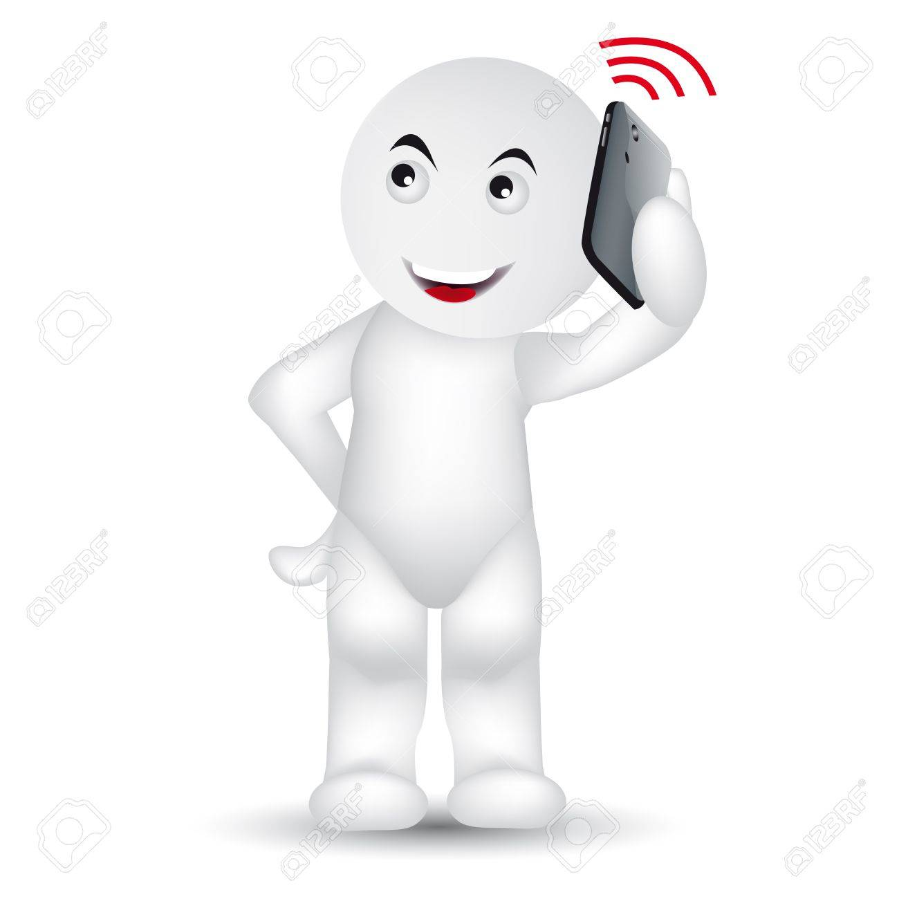 A man is calling with a mobile phone. Stock Vector - 12145085