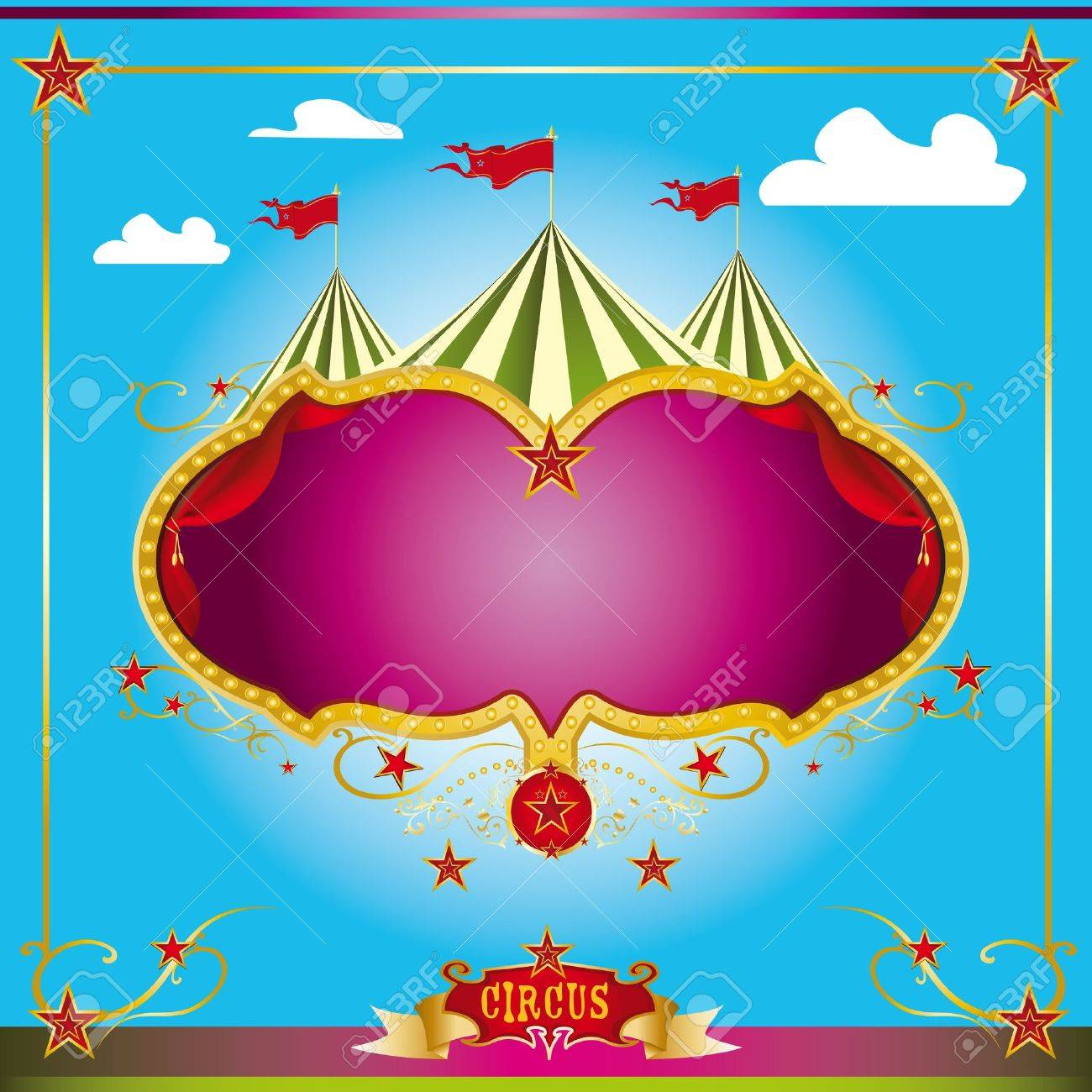A circus leaflet for the announcement of your show Stock Vector - 13351934