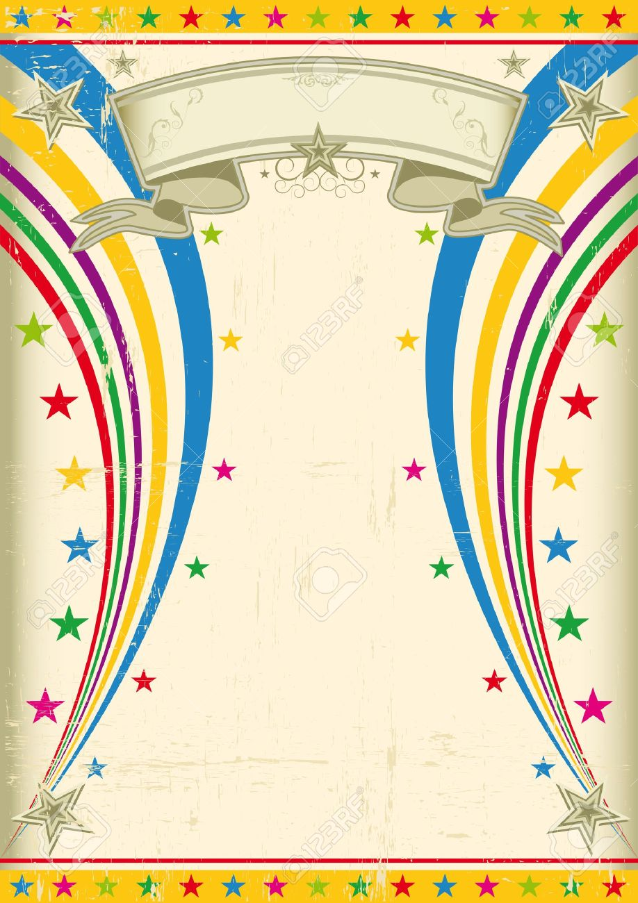 A vintage multicolor poster for your party - 13416149