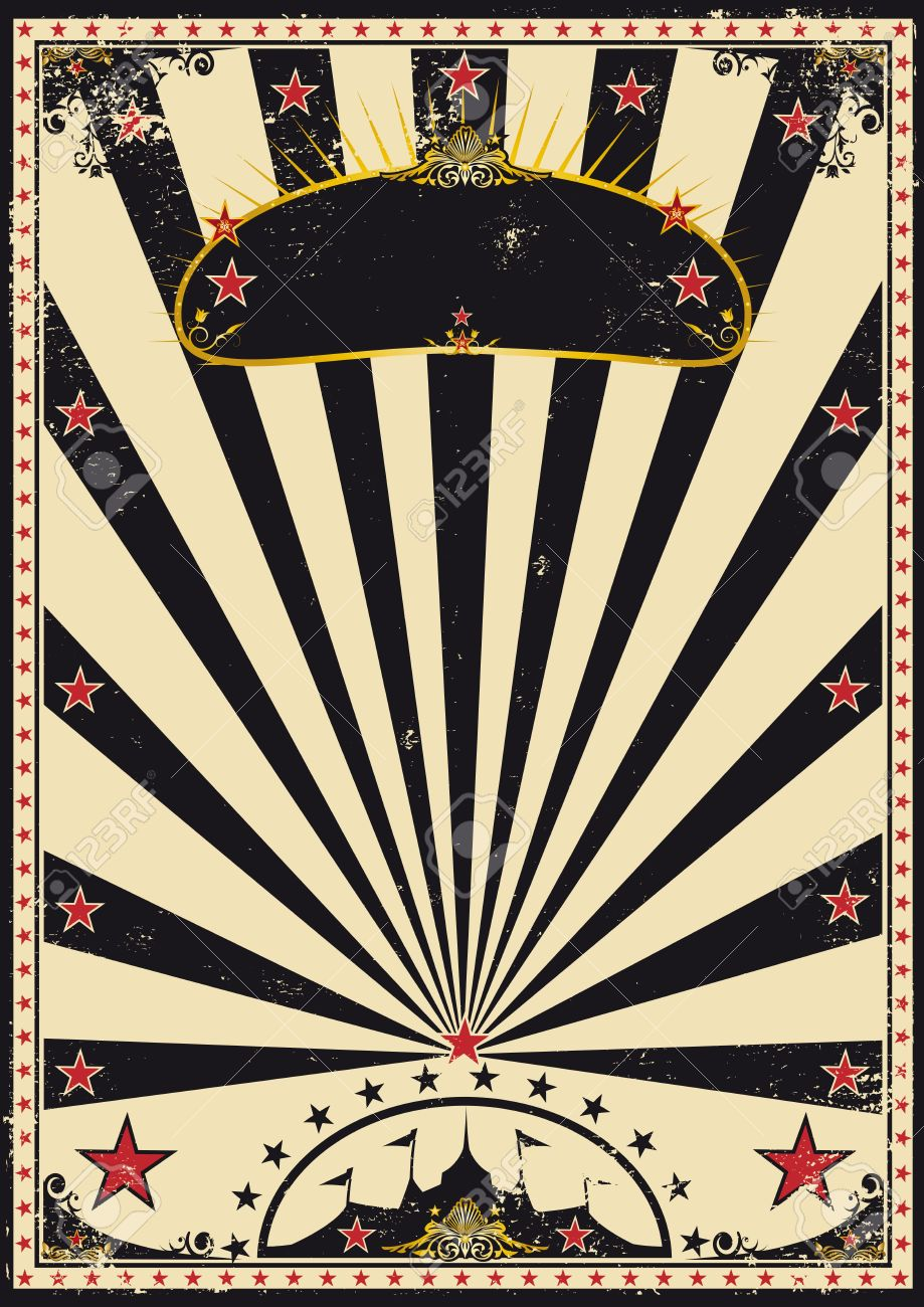 A retro circus poster for your advertising - 13662833