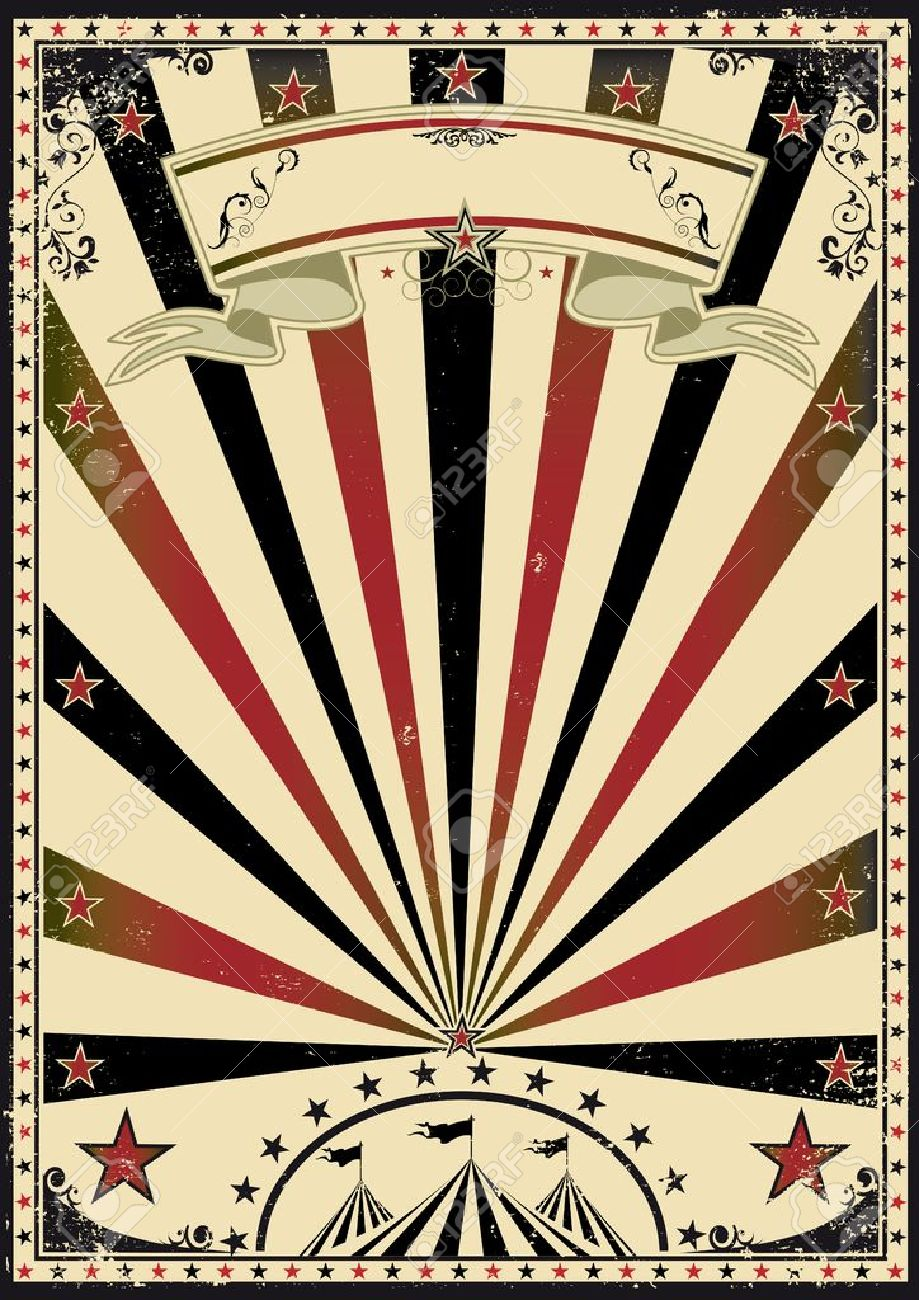 Vintage Circus Poster Background A retro circus poster for your