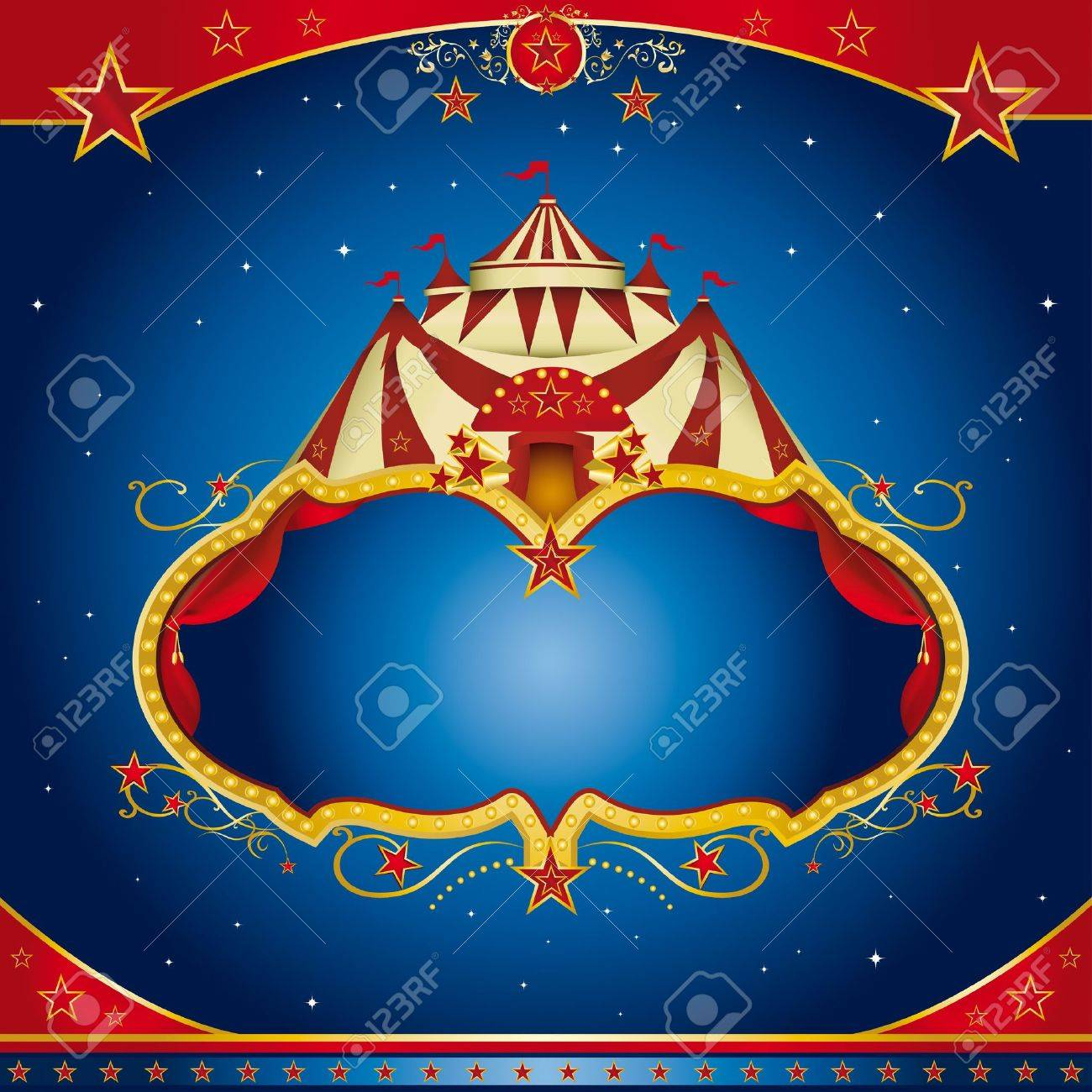 A circus leaflet for the announcement of your show Stock Vector - 14778384