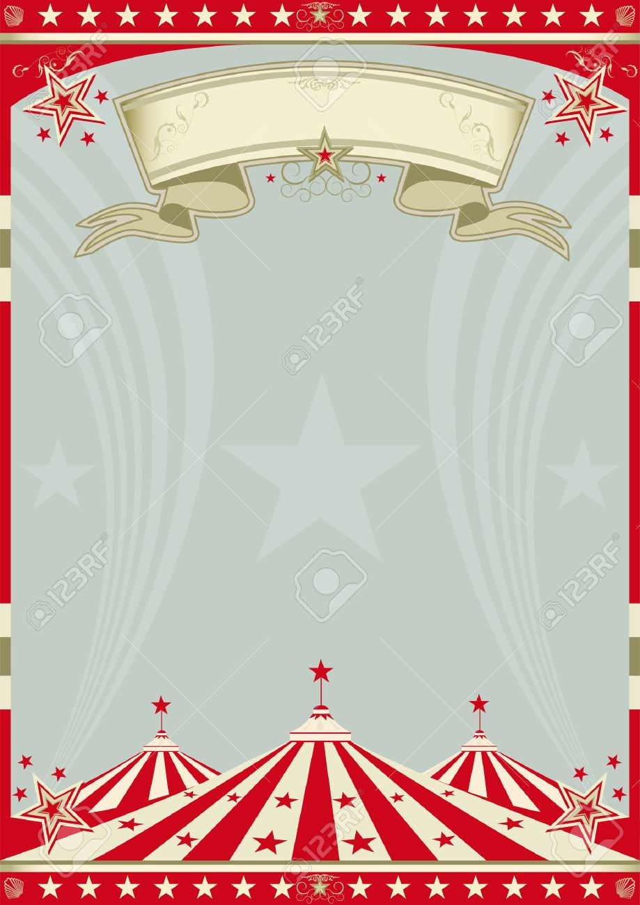 Vintage Circus Poster Background A retro circus background for